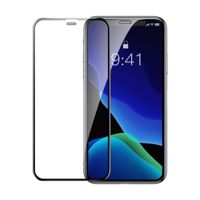 Baseus 3D Full Cover Curved Tempered Glass για Apple iPhone XR/11 (2pcs) – Black (200-107-008)