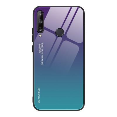 OEM Θήκη Tempered Glass Huawei P40 Lite E  - Green/Purple (200-107-013)