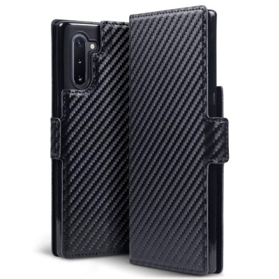 Terrapin Low Profile Θήκη - Πορτοφόλι Carbon Fibre Samsung Galaxy Note 10 - Black (117-002a-181)