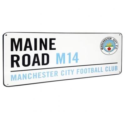 Μεταλλική διακοσμητική πινακίδα Manchester City F.C. - Επίσημο προϊόν ( 100-100-349)