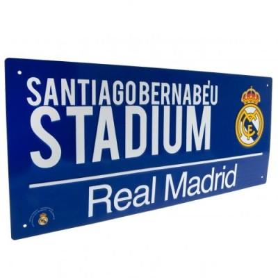 Μεταλλική διακοσμητική πινακίδα Real Madrid - Santiago Bernabeu - Επίσημο Προϊόν (100-100-703)