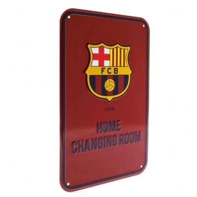 Μεταλλική διακοσμητική πινακίδα Barcelona F.C  Home Changing Room - Επίσημο Προϊόν (100-100-600)