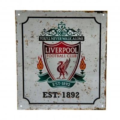 Μεταλλική διακοσμητική πινακίδα Liverpool F.C Retro (100-100-668)