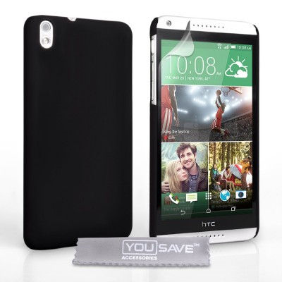 Θήκη για HTC Desire 816 by YouSave μαύρη  και screen protector