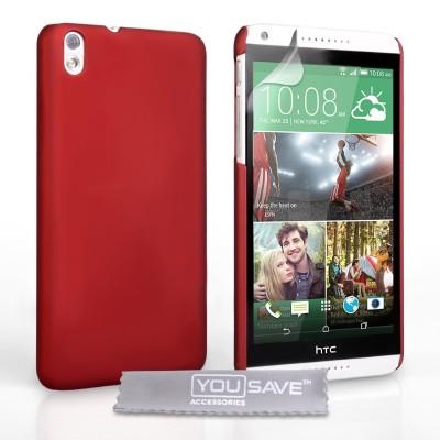 Θήκη για HTC Desire 816  by YouSave κόκκινη και screen protector
