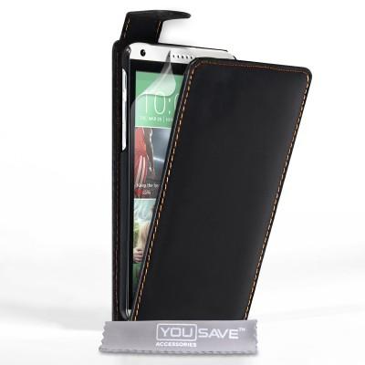 Θήκη για HTC Desire 816 μαύρη by YouSave και screen protector