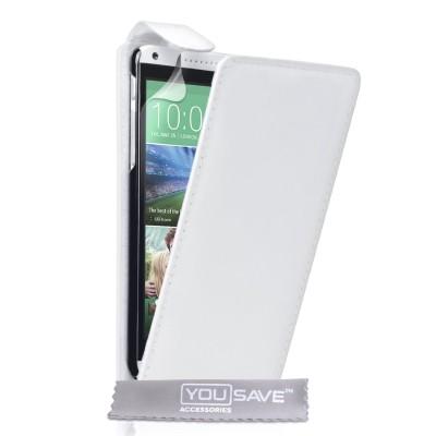 Θήκη για HTC Desire 816 λευκή  by YouSave και screen protector