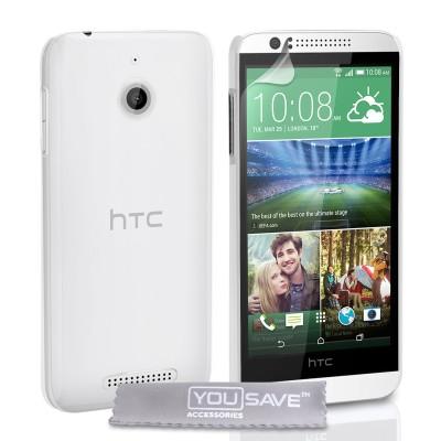 Θήκη για HTC Desire 510  by YouSave διάφανη και screen protector