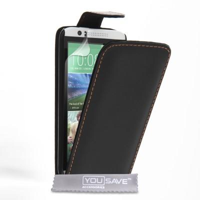 Θήκη για HTC Desire 510 μαύρη by YouSave και screen protector