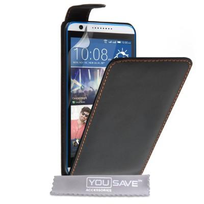 Θήκη για HTC Desire 820 μαύρη by YouSave και screen protector