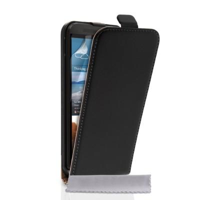 Δερμάτινη θήκη για HTC One M9 Plus  by YouSave Accessories  μαύρη και δώρο screen protector