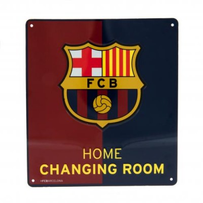 Μεταλλική διακοσμητική πινακίδα αποδυτηρίων Barcelona F.C