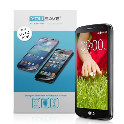 Μεμβράνη Προστασίας Οθόνης LG G2 mini by Yousave - 3 Τεμάχια