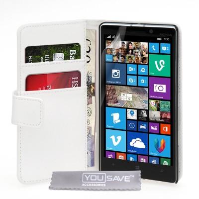 Θήκη- Πορτοφόλι για Nokia Lumia 930 by YouSave Accessories λευκή και δώρο screen protector