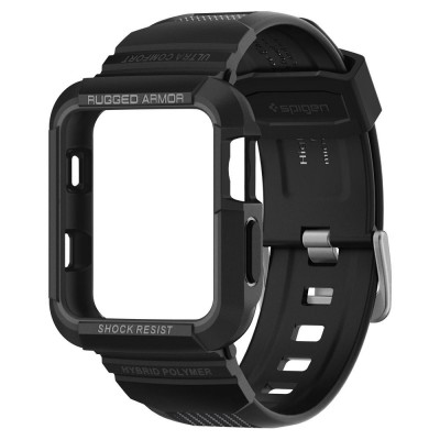 Spigen Apple Watch 1/2/3 42mm Rugged Armor Pro με λουράκι  (059CS22408)