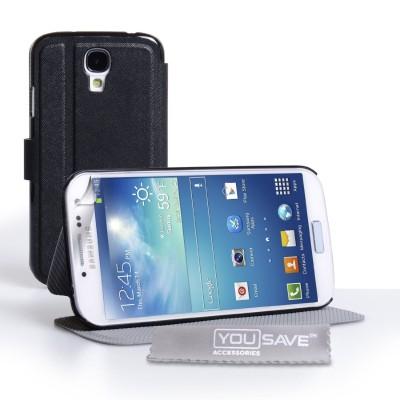 Θήκη-πορτοφόλι  Samsung Galaxy S4 by Yousave και screen protector