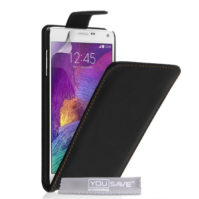 Θήκη για Samsung Galaxy Note 4 by YouSave Accessories  μαύρη και δώρο screen protector