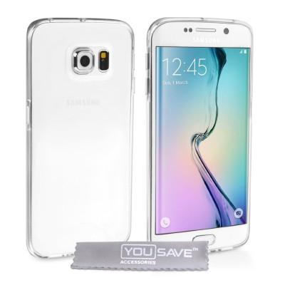 Θήκη σιλικόνης για Samsung Galaxy S6 Edge διάφανη Ultra Thin by YouSave
