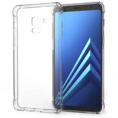 Θήκη σιλικόνης διάφανη Ultra Slim για Samsung Galaxy A8 (2018) by Caseflex και δώρο screen protector (200-102-581)