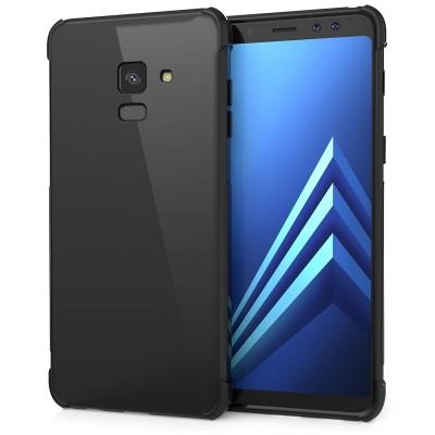Θήκη σιλικόνης Ultra Slim για Samsung Galaxy A8 (2018) μαύρη by Caseflex και δώρο screen protector (200-102-582)