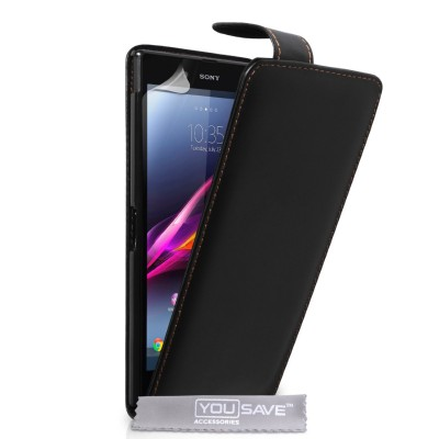 Θήκη για Sony Xperia Z Ultra by YouSave μαύρη και screen protector