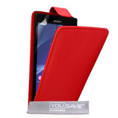 Θήκη για Sony Xperia T2 Ultra  κόκκινη by YouSave και  screen protector