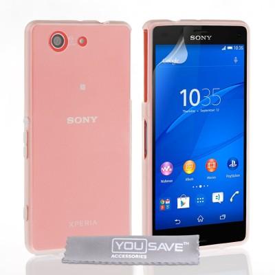 Θήκη σιλικόνης διάφανη για Sony Xperia Z3 Compact  by YouSave και screen protector
