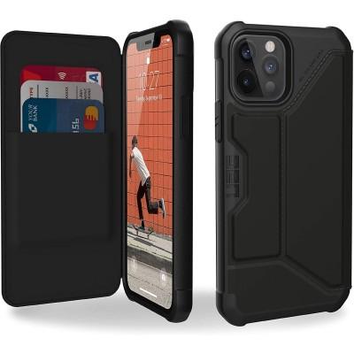 UAG Flip Θήκη Πορτοφόλι Metropolis Apple iPhone 12 / 12 Pro - Satin Black (112356113840)