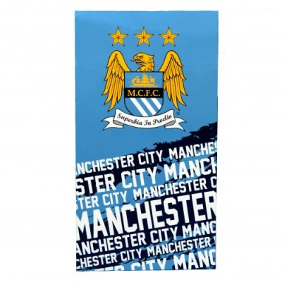 Μεγάλη πετσέτα Manchester City F.C.  Επίσημο προϊόν ( 100-100-346)