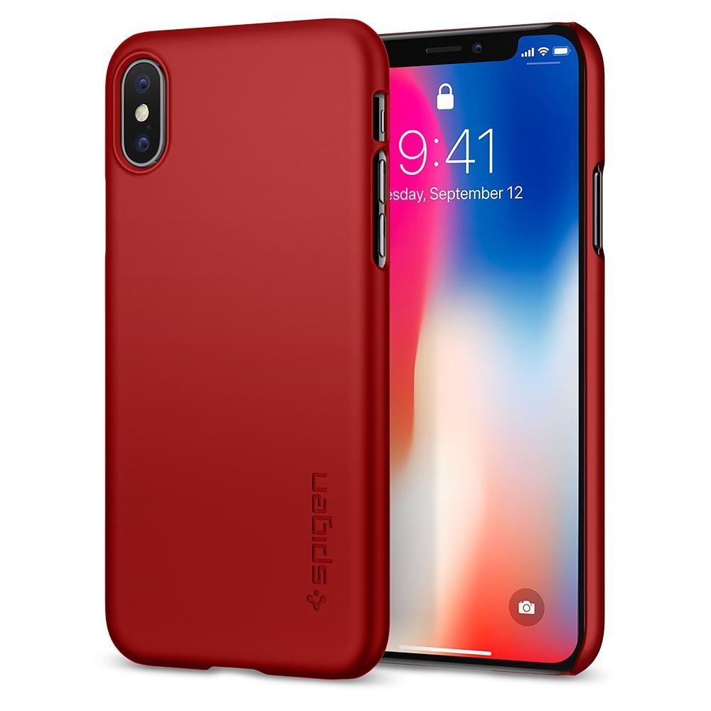 Spigen iPhone X Thin Fit Metallic Red (057CS22109)