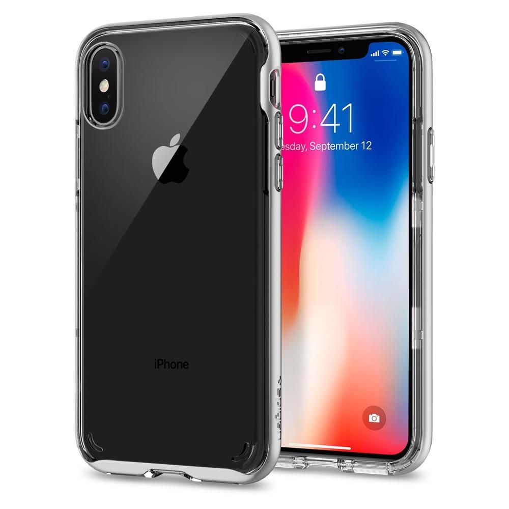 Spigen iPhone X Neo Hybrid Crystal Satin Silver (057CS22174)