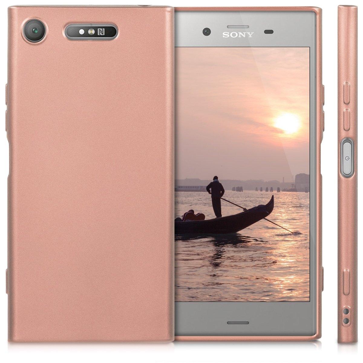 Θήκη σιλικόνης Rose Gold για Sony Xperia XZ1