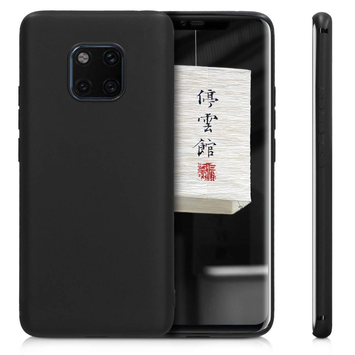 Μαύρη θήκη σιλικόνης Huawei Mate 20 Pro