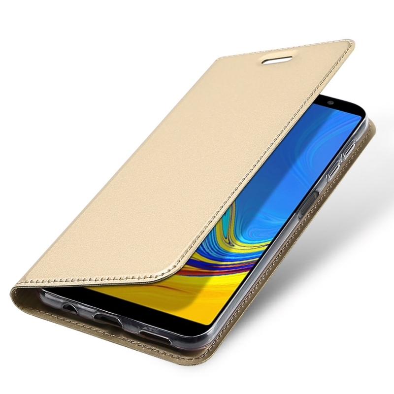 Θηκη πορτοφόλι για Samsung Galaxy A7 (2018)  gold