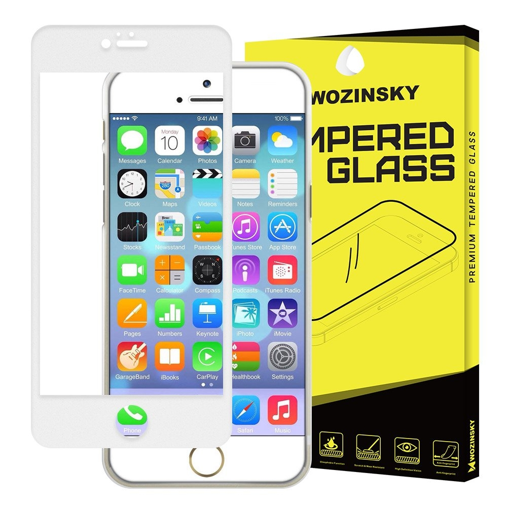 Full Cover Flexi Nano Glass for iPhone 6 Plus White