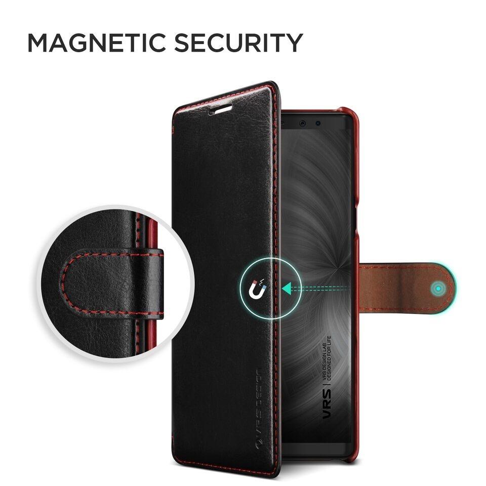Δερμάτινη θήκη VRS Samsung Galaxy Note 9 μαύρη