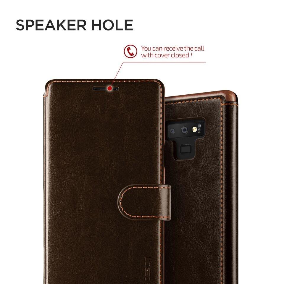 Δερμάτινη θήκη VRS Samsung Galaxy Note 9 καφέ