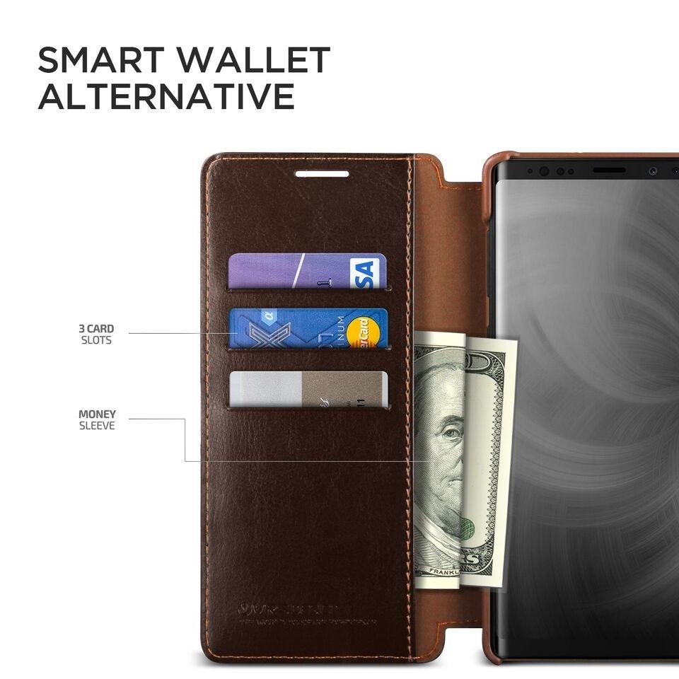 Δερμάτινη θήκη VRS Samsung Galaxy Note 9 καφε
