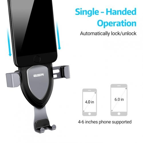 Βάση ESR Gravity Car Mount Phone Holder Black