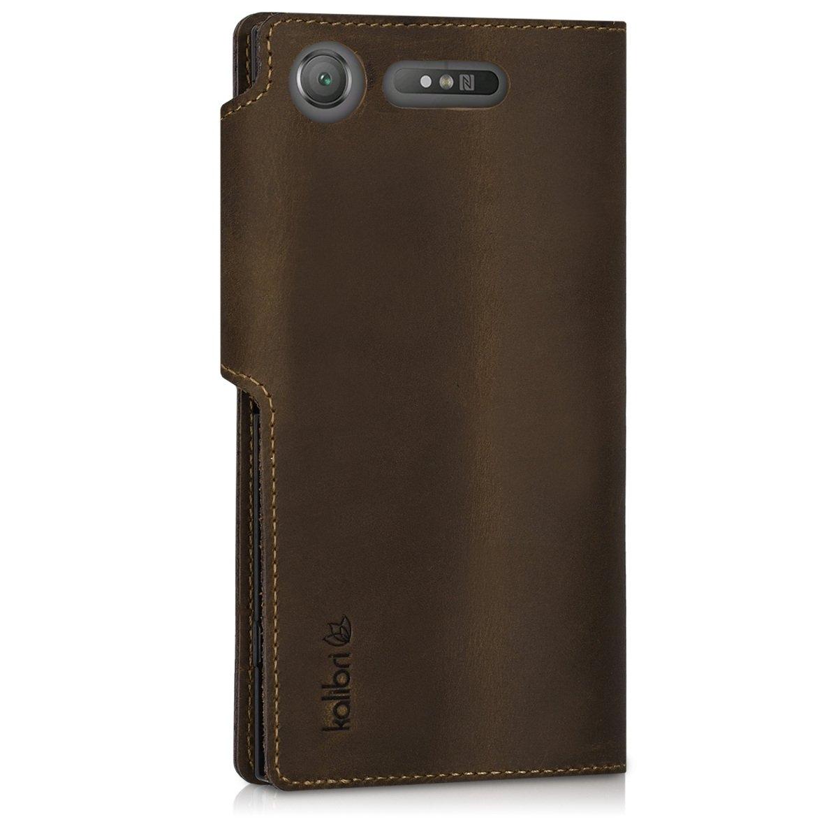 Δερμάτινη θήκη Sony Xperia XZ1 καφέ