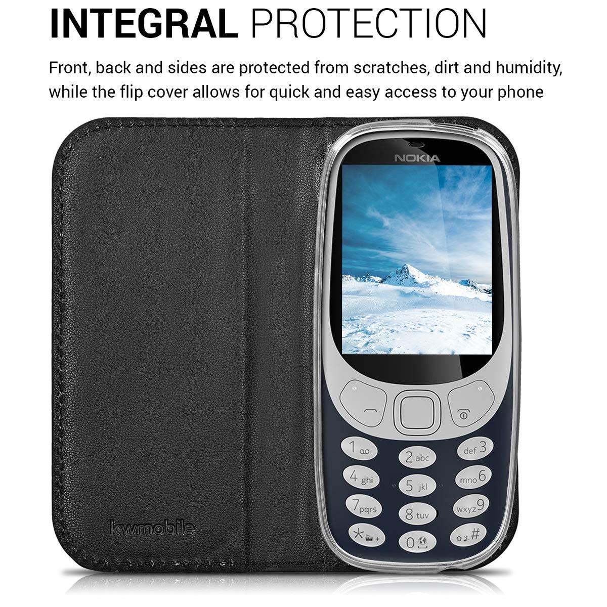 Flip Cover Case for Nokia 3310 μαύρη